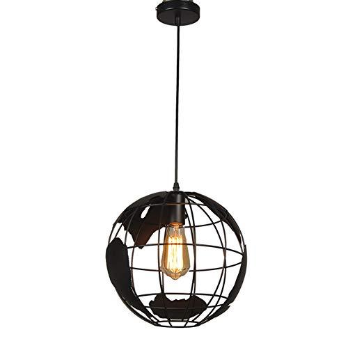 Industriel Forme De La Terre Globe Carte Pendentif Lumière Edison Plafonnier Vintage Lustre en Fer Forgé Éclairage Moderne Créative Suspension Lampe Suspendue Luminaire