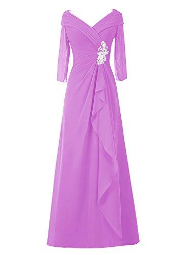 Dresstells, A-ligne robe longue de mère de mariée, robe de soirée, robe de demoiselle d'honneur Lilas