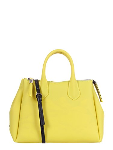 GUM BY GIANNI CHIARINI BORSA A MANO TRACOLLA LATTICE GIALLO, 1740T.GUM