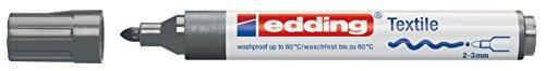 edding Textilmarker edding 4500 creative, Rundspitze, 2-3 mm, grau