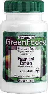 Swanson Greenfoods Eggplant 20:1 Extract (450mg, 30 Vegetarian Capsules ) from Swanson Health Products
