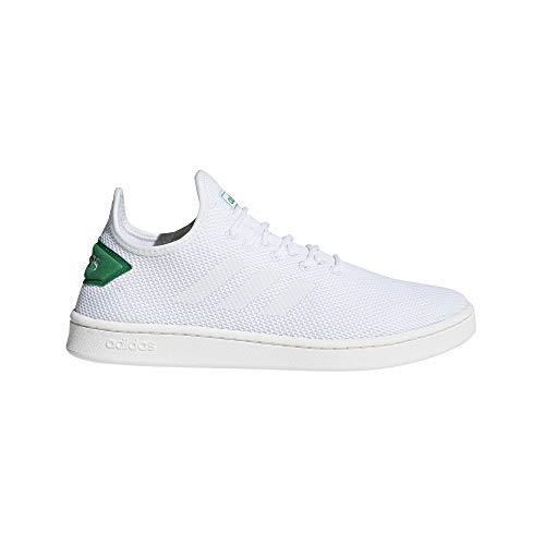 adidas Court Adapt, Scarpe da Tennis Uomo, Bianco Ftwbla/Verde 000, 45 1/3 EU