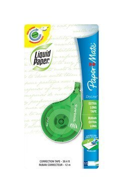 liquid-paper-dryline-correction-tape-1-5w-x-384l-white-each-61371-by-paper-mate