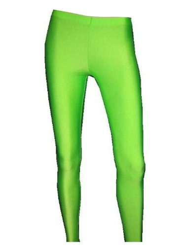 Neon UV Green Leggings - Made in England - Choice of Sizes