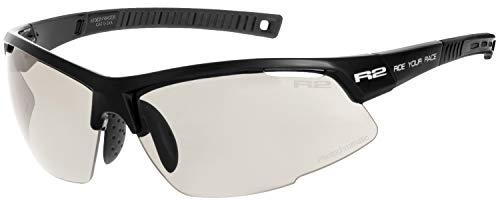 R2 Sportsonnenbrille RACER schwarz mit selbsttönenden Brillengläsern