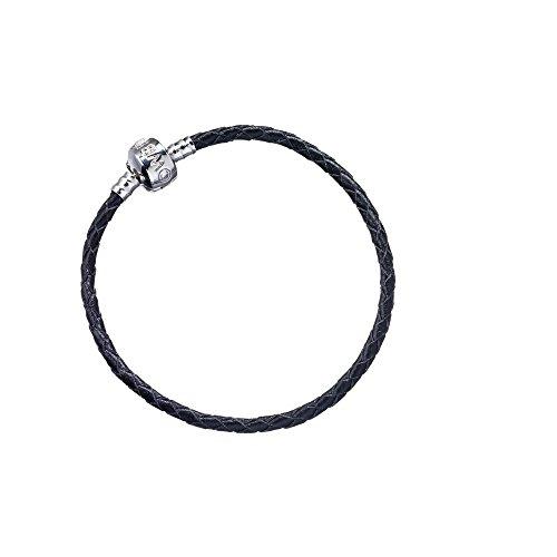pelle-nera-harry-potter-braccialetto-per-slider-charm-unisex-black-18-cm