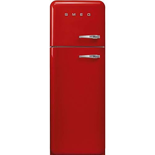 Smeg FAB30LRD3 Kühl-Gefrier-Kombination, freistehend, 294 l, A+++ - Kühl-Gefrier-Kombination (294 l, SN-T, 4 kg/24 h, A+++, neue Zone, Rot)