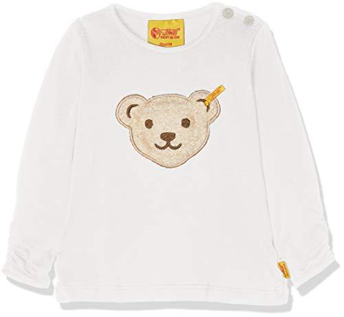 Steiff Baby-Mädchen T-Shirt 1/1 Arm Langarmshirt, Weiß (Cloud Dancer White 1610), 80 - Dancer Kinder-t-shirt