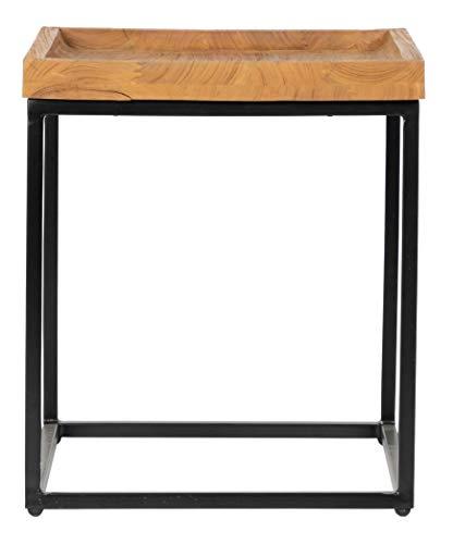 Savannah Beistelltisch (Inspired by David Francis EAW641-ENT Savannah End Table, Natural/Black)