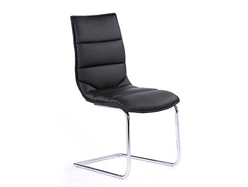 MILANO Freischwinger Esszimmerstuhl Schwingstuhl Stuhl schwarz