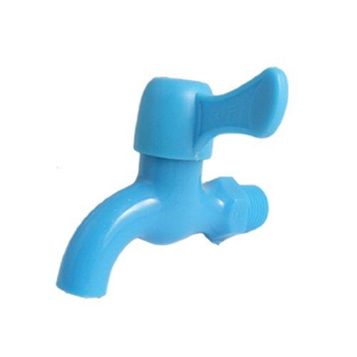 sourcing map Jardin eau plastique bleu remplacement robinet robinet