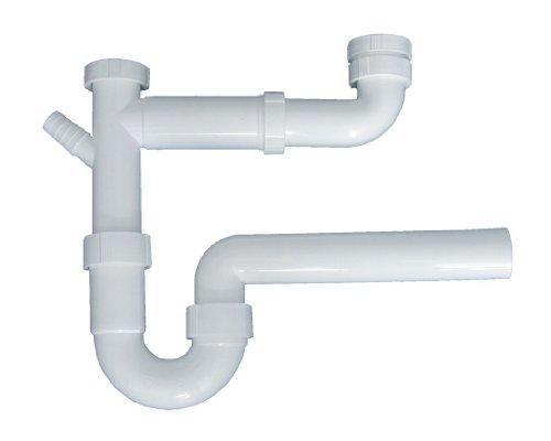 Cornat T353108 Spültisch-Geruchverschluss-Schlauch, doppelt 1 1/2 Zoll x 40 mm