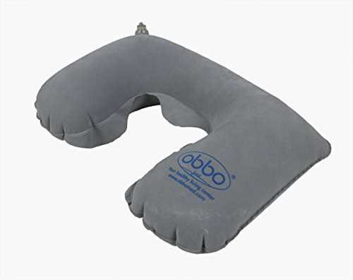 ObboMed® SV-1500 Reise Schlaf Set-aufblasbar leichtes Gewicht transportierbar Nacken Schulter Kissen, Augenmaske, Ohrstöpsel für ruhigen Schlaf, unterstützend, entspannend, Flugzeug, Bus, Auto, Boot, Zug und zu Hause