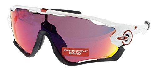 Oakley Jawbreaker Prizm Road-Occhiali da sole, Oo 9290-05, colore: bianco lucido, taglia XL-Fit