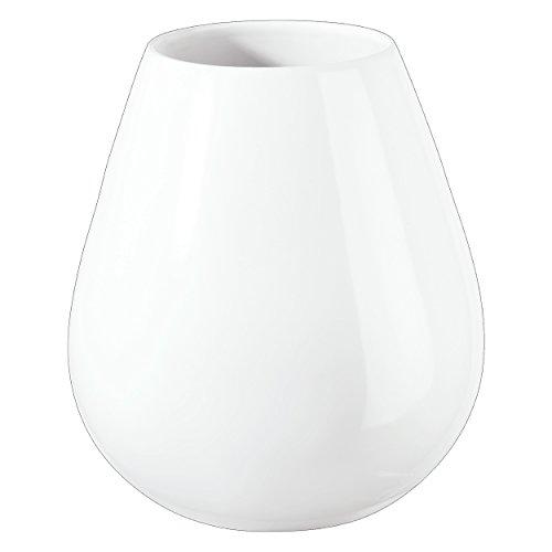 ASA Ease Vase, Raumdekoration, Blumenvase, Keramik, Weiß, H 18 cm, 91033005