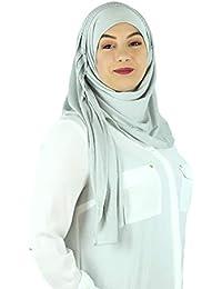 feabf71d22c6 SAFIYA - Hijab foulard à enfiler pour femme I Voile pret a porter musulmane  turban pashmina châle écharpe islamique…