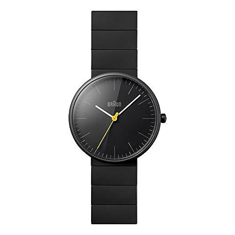 Braun Men's Quartz Watch with Black Dial Analogue Display and Black Ceramic Strap BN0171GYGYG