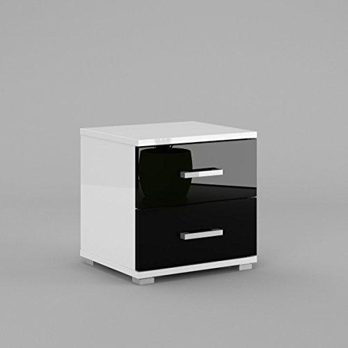 neli-n2-table-de-chevet-table-de-nuit-2-tiroirs-le-corps-blanc-haute-brillance-le-front-noir-haute-b
