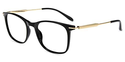 Firmoo Blaulichtfilter Computer Brille, Anti Blaulicht Brille ohne Sehstärke für Damen Herren, Arbeitsplatzbrille Anti Augenmüdigkeit Kopfschmerzen, Rechteckige Brillefassung