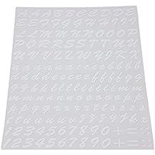 Quattroerre 1232, kit de letras adhesivas, blanco