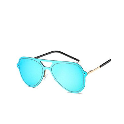 Junecat Bunte Metallrahmen UV400 Sonnenbrille Runde Doppel Nase Sonnenbrille Frauen-Sommer-Brillen