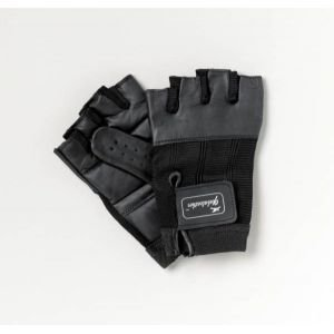 Patterson Medical Medium Size One Pair Black Leather Wheelchair Gloves (Eligible for VAT relief in the UK)