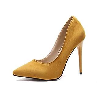 NMERWT Damen Mode Solide Spitz Pumps mit Pfennigabsatz Hochzeit Abiball High Heels Single Business Schuhe Stiletto Schuhe Geschlossene Pumps