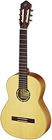 Ortega Guitars R121L Family Series Left Handed Nylon 6-String Guitar with Spruce Top and Mahogany Body, Satin