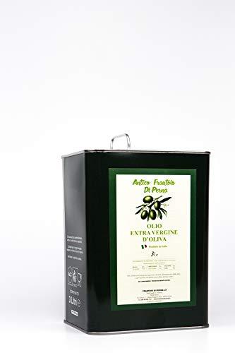 Olio extra vergine di oliva italiano 3 litri antico frantoio di perna (basilicata) estratto a freddo garanzia soddisfatto o rimborsato