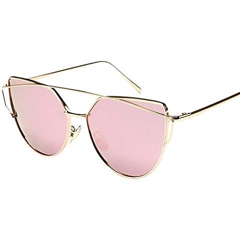 JYR Mujeres Charmming Moderno espejo de la manera gafas de sol polarizadas de metal Cateye