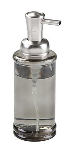 mDesign distributeur de savon-mousse rechargeable – flacon en verre sombre