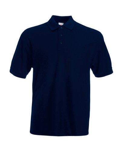 Fruit Of The Loom-Poloshirt 65/35 (DE) Blau - Dunkles Marineblau