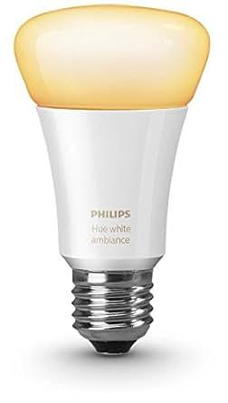 Philips Hue White Ambiance LED Lampe E27 Einzellampe, dimmbar, alle Weißschattierungen, steuerbar via App, 8718696548790