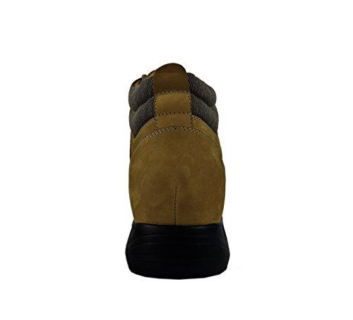 Zerimar Botte Rehaussantes Por Hommes Ajoutez + 8 CM à Votre Taille Fait de Cuir de Haute Qualité Chameau