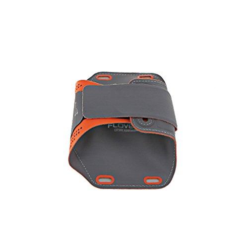 Generic Handy Sport Armband Laufen Armband Handy Tasche Hülle Case Touch Screen Schirmschutz für Joggen, Running, Farben und Größen Auswählbar, Geeignet für Apple iPhone 7/7 Plus - schwarz 5,5 Zoll Orange 5,5 Zoll