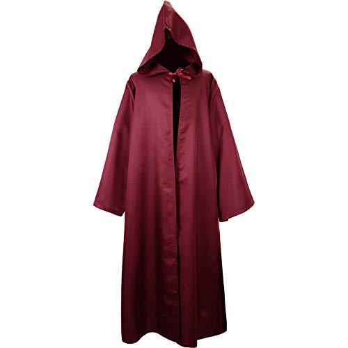 DoneB 2019 Herren Manner Herbst Winter Reine Farbe Wizard Performance Cosplay Kleidung Einfarbig Mit Kapuze