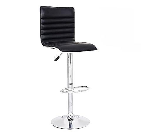 Neotechs® Black Eclipse Style Faux Leather Bar Stool Breakfast Swivel Bar Stools Barstools Kitchen Metal Base