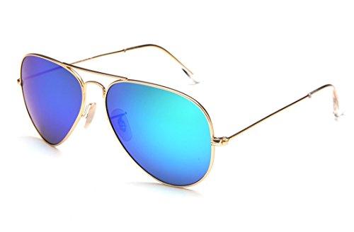 Laura Fairy 100% UV Schutz verspiegelt Unisex Aviator sunglasses-green