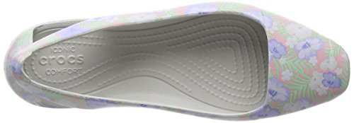 Crocs Sienna Graphic Flat W, Ballerine Donna Rosa (Light Pink/Floral)