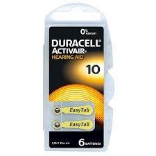 Duracell Activair 10 Hearing Aid Battery (10 packs of six cells)