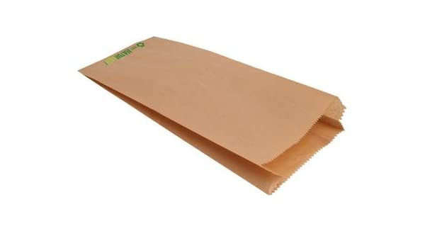 1000 Faltenbeutel braun Natron 20+8x36cm 430 Bäckerbeutel Papiertüten