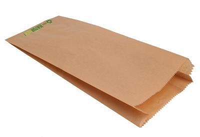 der-verpackungs-profi 1000 Bäckerfaltenbeutel Bäckertüten Faltenbeutel braun Natron Kraftpapier (422, 14+6x28cm)
