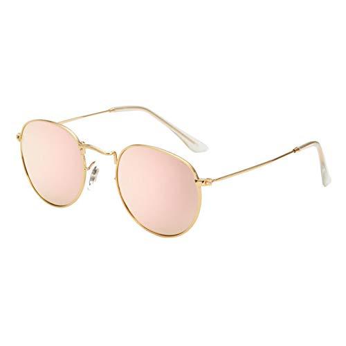 Yuanz Marke Unisex Mode Sonnenbrillen Retro runde Sonnenbrille für Frauen Legierung Spiegel Sonnenbrille weiblichen uv400,Y.