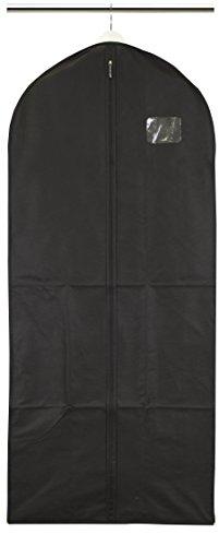 Bolsa de ropa para abrigos y vestidos–transpirable–negro
