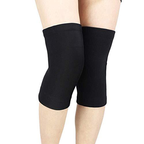 RED SHORE Knie Ärmel Unterstützung Kompression Knieorthese Anti Slip Schmerzlinderung für Arthritis Patella Osteo & Running Gewichtheben Joint Injury Recovery 2pc (S,Black)