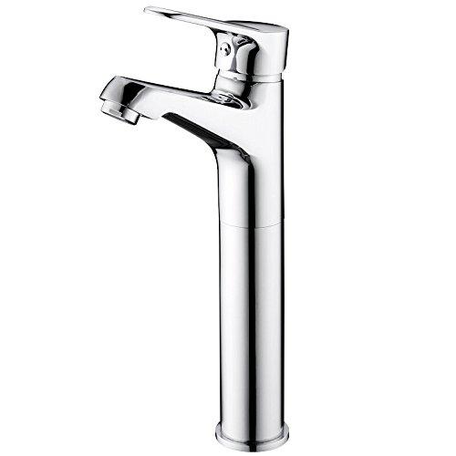 Detianduhou Badezimmer Waschbecken Wasserhahn voll Kupfer heiße und kalte einzelne Bohrung auf der Badezimmer-eitelkeit Badezimmerschrank Hahn Tippen (Einzelne-badezimmer-eitelkeit)