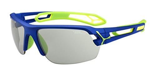 Cébé S'Track - Gafas de sol deportivas, color azul oscuro / verde, talla M