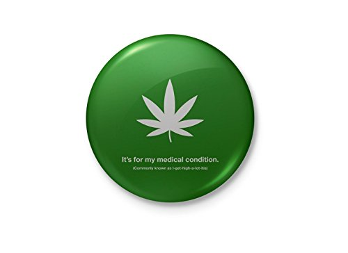 Alter Ego Grass for my medical condition Funny Minimalist Badge