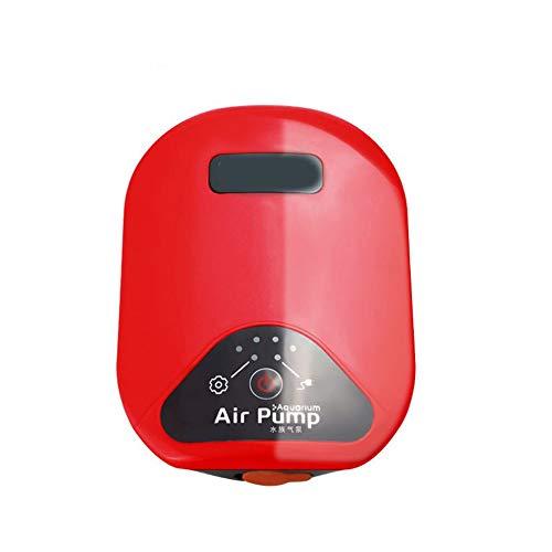 HAIMEI-WU Angelrolle Doppeltes motorisches stummes tragbares Lithiumbatterie-Belüftungsgerät, Wechselstrom- und Gleichstromsauerstoffpumpe, Fischenbelüftungspumpe (Color : Red)