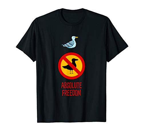 Absolute Freiheit und Rebellion - Die Möwe, die Sartre las T-Shirt